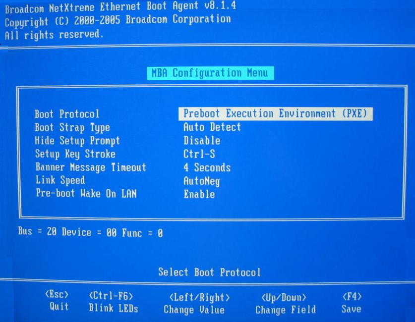 Broadcom Boot Agent Driver Software: Broadcom NetXtreme 57XX